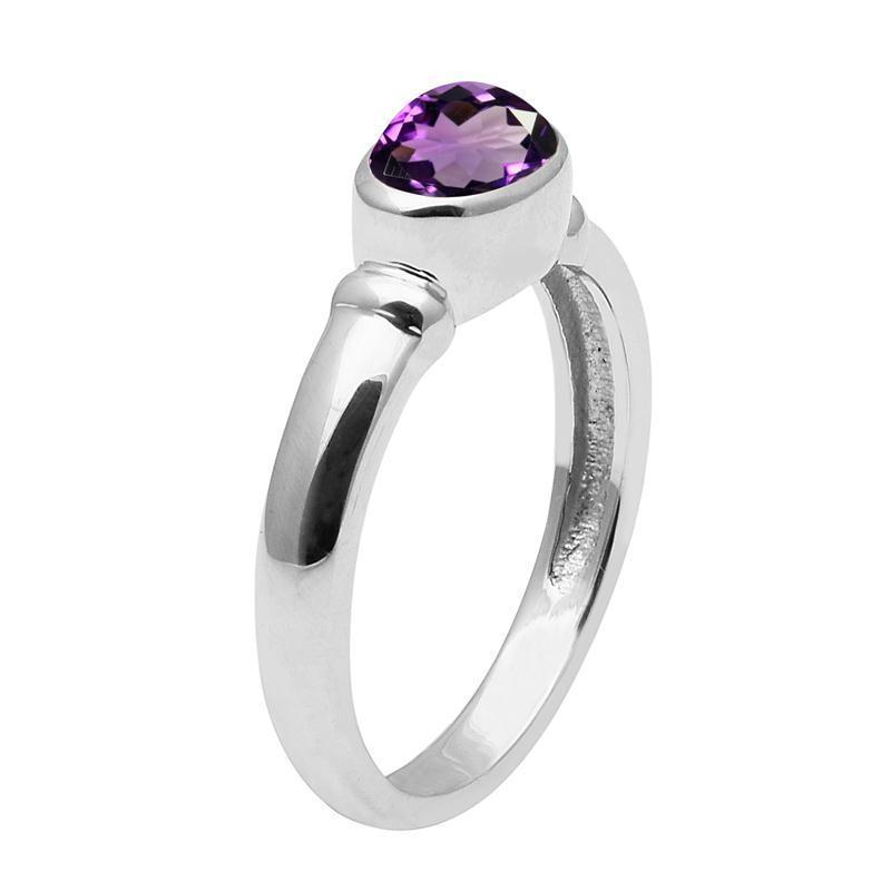 African !! Amethyst 925 Sterling Silver Ring Shine Jewelry Size-8.5 SHRI1653