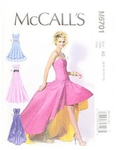 McCall Patterns M6701 Misses' Dresses Sewing Template, Size A5 (6-8-10-12-14) - $14.21