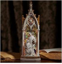 Holy Family Illuminated Gothic Arch Figurine - $75.95