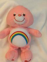 "Vintage 2002 Care Bears Cheer Bear Pink Rainbow 11"" - $14.84"