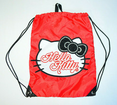 Hello Kitty By Sanrio Jeweled Drawstring Backpack Red Loungefly - $34.64