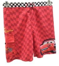 Disney Pixar Swim Trunks L 10 to 12 Disneyland Resort McQueen Red Black ... - $14.80