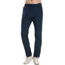 Men Fashion Casual Drawstring Full Length Waterproof Running Pants Sport... - $33.66