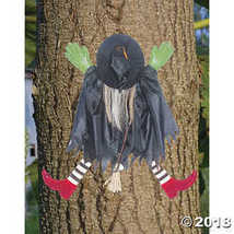 Halloween Prop: Tree Trunk Witch W/Red Shoes - $12.11