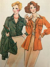 Vogue Sewing Pattern 8966 Vintage 1970s Size 12 Shirt & Shirt Jacket Uncut - $10.19