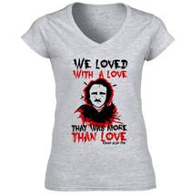 Edgar Allan Poe Love Quote - New Cotton Grey Lady Tshirt - $25.28