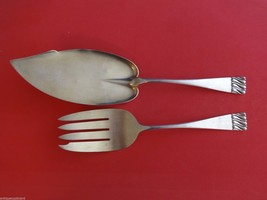 Durgin Sterling Silver Fish Serving Set 2pc Gold Washed - $489.00