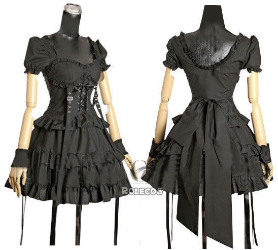 Primary image for Lolita Punk Gothic Princess Vintage Dress Short Layered Dress Cosplay Costumes