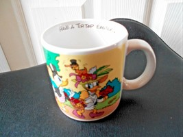 Walt Disney Applause Mug Cup Daffy Daisy Duck Have A Tip Top Easter - $9.39