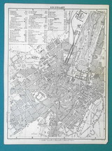 1887 MAP BAEDEKER - GERMANY Plan of Stuttgart City & Environs Umgebung - $10.80