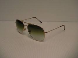 Authentic new Gucci sunglasses gg 1287/s 000zw gold frame green lenses - $178.15