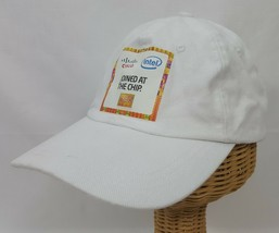 Cisco Systems Intel White Cap Hat Joined At The Chip American Tech Co Cameo - $18.59