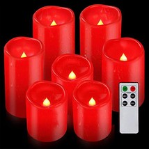 "Flameless Candles Waterproof Outdoor Candles Pack of 7 D 3"" x H 4""5""6"" R... - $23.03"