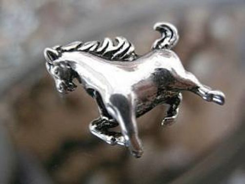 NICE Horse Charm bead fit jewelry Sterling Silver .925