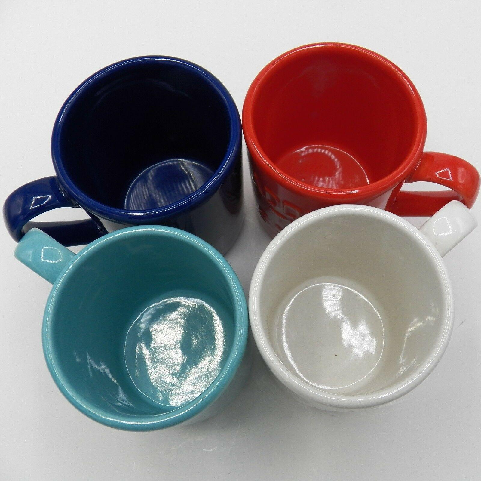 Kate Spade Mugs All In Good Taste Set of 4 Pretty Pantry Words Coffee Cup Lenox