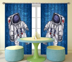 3D Astronaut 115 Blockout Photo Curtain Print Curtains Drapes US Lemon - $177.64+