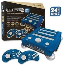 RetroN 3 Gaming Console 2.4 GHz Edition (Bravo Blue) SNES/ Genesis/ NES - $64.30