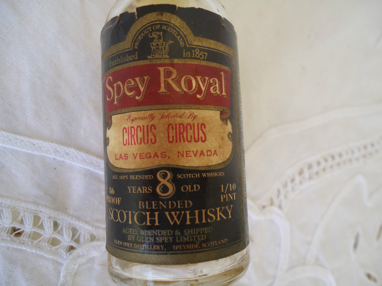 Primary image for Spey Royal Scotch Whiskey Bottle Miniature Vintage Circus Circus Las Vegas NV