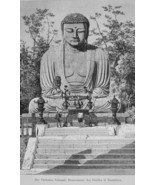 JAPAN Daibutsu Colossal Statue of Buddha in Kamakura - 1882 Wood Engraving - $19.80