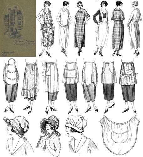 Apron Book Make Aprons Dust Caps Flapper Costumes 1923