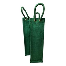Wine Gift Bags - Green Reusable, Burlap Travel Bottle Carrier with Handl... - $27.44