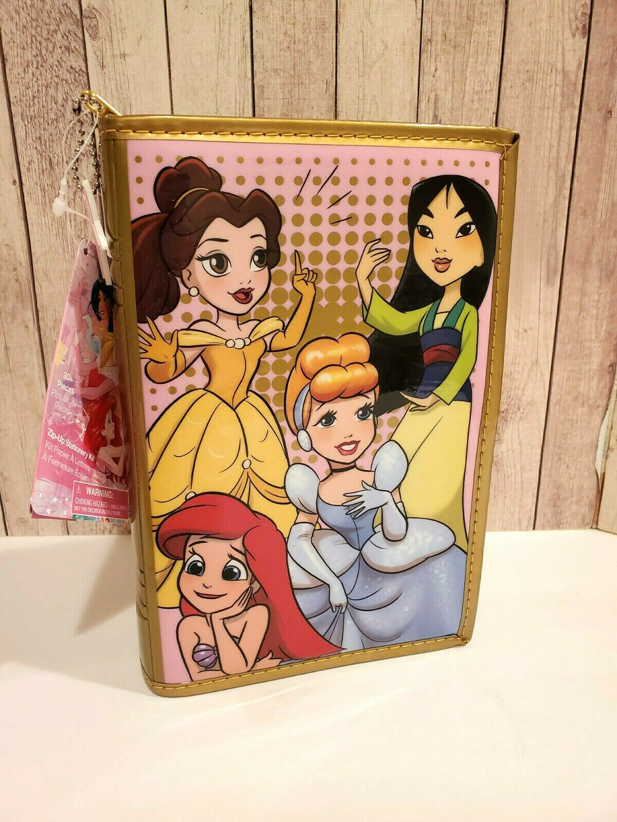 Disney Store Book Style Princess Zip Up Stationery Kit for Art Craft School - $24.75