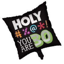 """Holy Bleep You're 30 Over Hill 30th Birthday Party Decoration 18"""" Mylar ... - $8.17"""