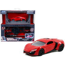 Model Kit Lykan Hypersport Red with Black Wheels Fast & Furious Movie Bui... - $25.02