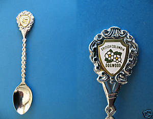 BRITISH COLUMBIA Souvenir Collector Spoon Collectible BC. DOGWOOD Flowers