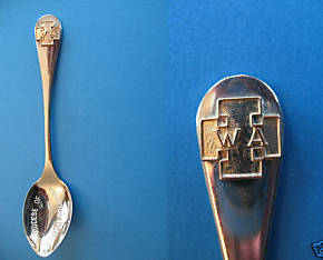 DIOCESE of British Columbia Souvenir Collector Spoon Collectible WA Gold CROSS