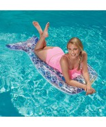 Mermaid Tail Pool Float 5 feet 10 inches Glitter/sparkles inside w/ Repa... - $19.99