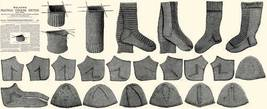 Victorian Dickinsian Knit Stocking Pattern Book c1885 - $12.99