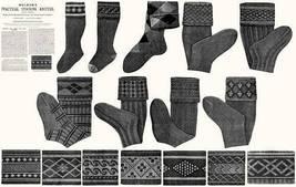 Victorian Edwardian Book Stockings Knit Patterns c1910 - $12.99