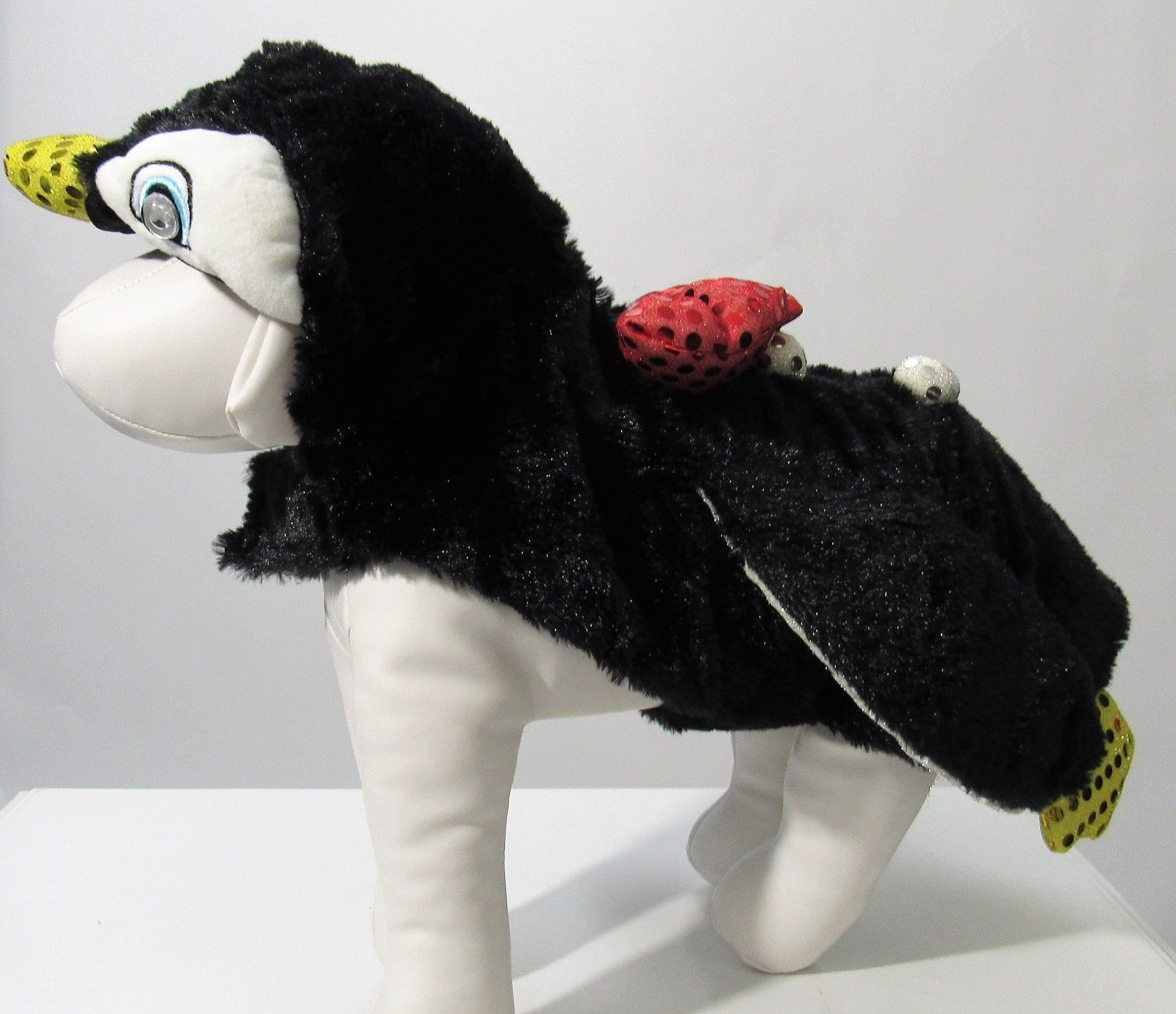 Pet Sequin Penguin Light Up Eyes Costume Sz S, M & L NEW