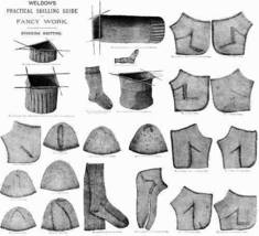 Victorian Weldons Stocking Knitting Book Patterns c1910 - $12.99