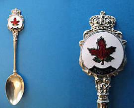 TORONTO Ontario Souvenir Collector Spoon Canada MAPLE LEAF Collectible