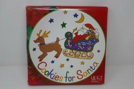 "Mikasa Ultra Ceram Santa's Treat Cookies for Santa 11"" Serving Plate w/Box - $14.24"
