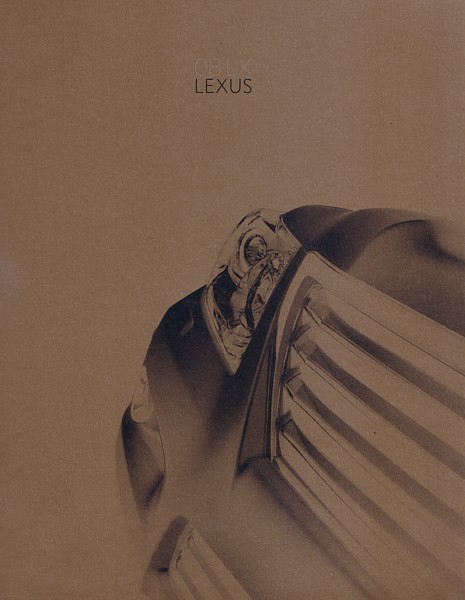 2008 Lexus LX 570 brochure catalog 08 US Land Cruiser