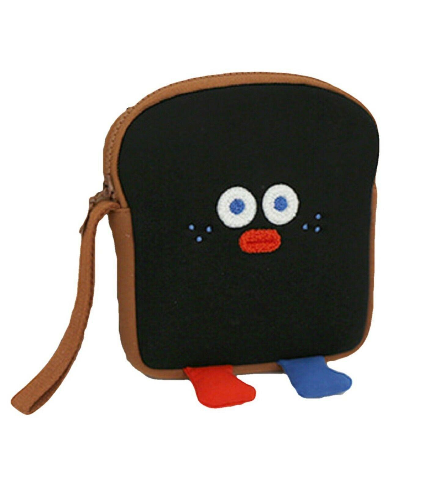 Brunch Brother Run Toast Bag Pouch Pencil Case Handbag Organizer (Burnt Toast)