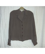 grayish brown silk blouse S/M - $10.00