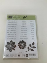 Stampin Up Crazy About You Words Phrases Photopolymer stamp set 33 Flowe... - $17.81