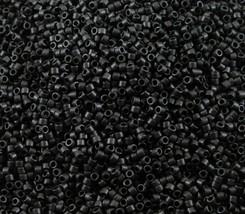 100 Grams Miyuki DB310 11/0 Matte Black Delica Seed Beads, DB0310, DB-310 - $40.94