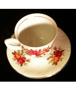 Demitasse Cup+Saucer Set Korona China Old Country Roses Gold MINT Poland... - $16.96