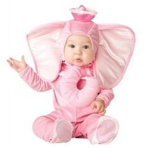 Infant Plush Pink Elephant Halloween Costume SZ Medium 12-18 Months Dumb... - €22,38 EUR