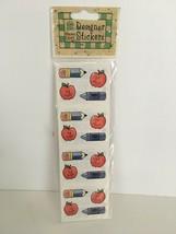 Provo Craft Designer Stickers School Bits Teacher Theme Apple Crayon Pen... - $3.00