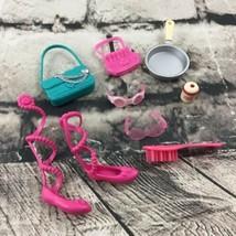 Barbie Doll Accessories Lot Of 9 Shoes Purses Glasses Goggles Pan Tea Jar - $9.89