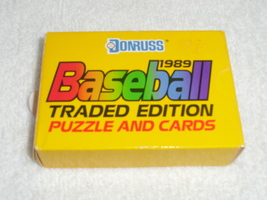 Donruss 1989 Baseball Traded Edition Puzzle and Cards image 1