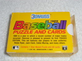Donruss 1989 Baseball Traded Edition Puzzle and Cards image 2