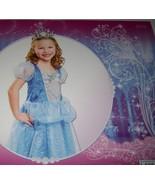 Disney Princess Cinderella Sparkle Dress Costume Dress Up SZ 4-6X NEW Blue - $18.00