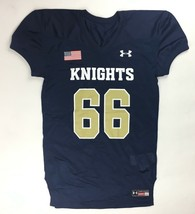 New Under Armour Knights Performance Football Jersey #66 Youth XL Navy 1... - $23.21
